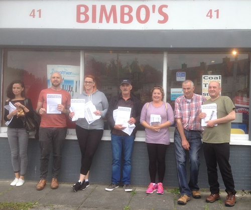 June 2016  Members of the new community campaign, the Oscar Traynor Land Action Group, out delivering information leaflets in Kilmore