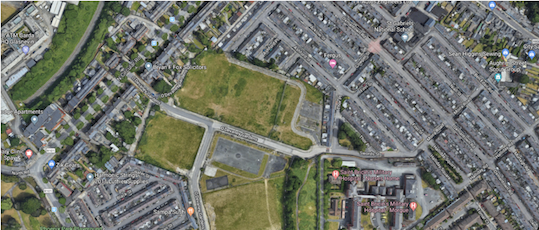 Satellite view of O'Devaney Gardens, Dublin.
