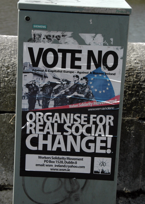WSM Irish Anarchist Poster No to Europe
