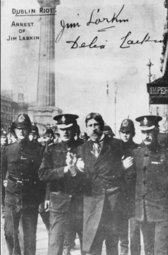 James Larkin and the 1913 Lockout. Larkin dedicated his life to trying to achieve socialism in Ireland.