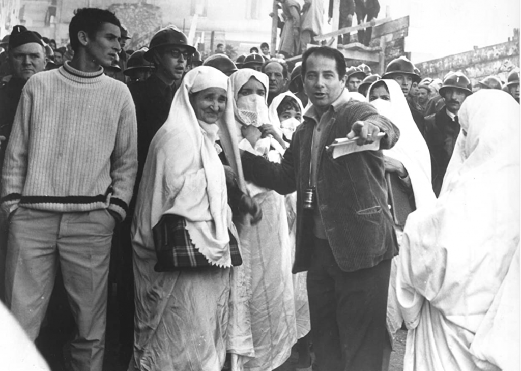 Gillo Pontecorvo on the set of The Battle for Algiers