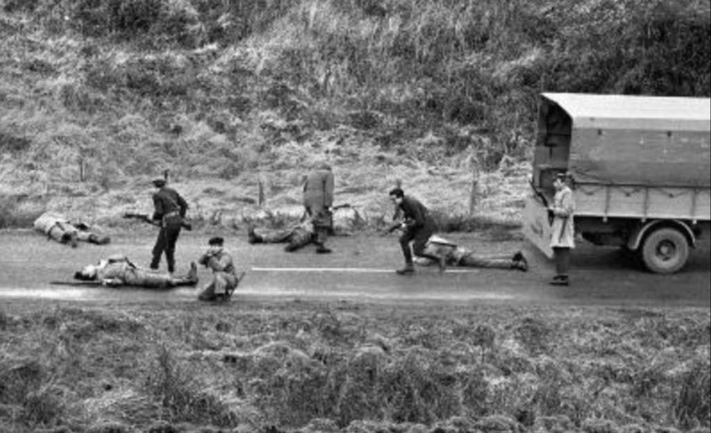 In 1946 the Irish army re-enacted the Kilmichael Ambush