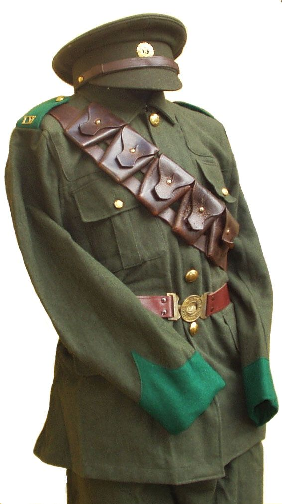 IRA officer uniform as worn by Tom Barry at the Kilmichael Ambush