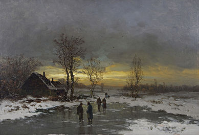 Winter could be a terrible challenge to commoners in the nineteenth century. Painting by Johann Jungblut