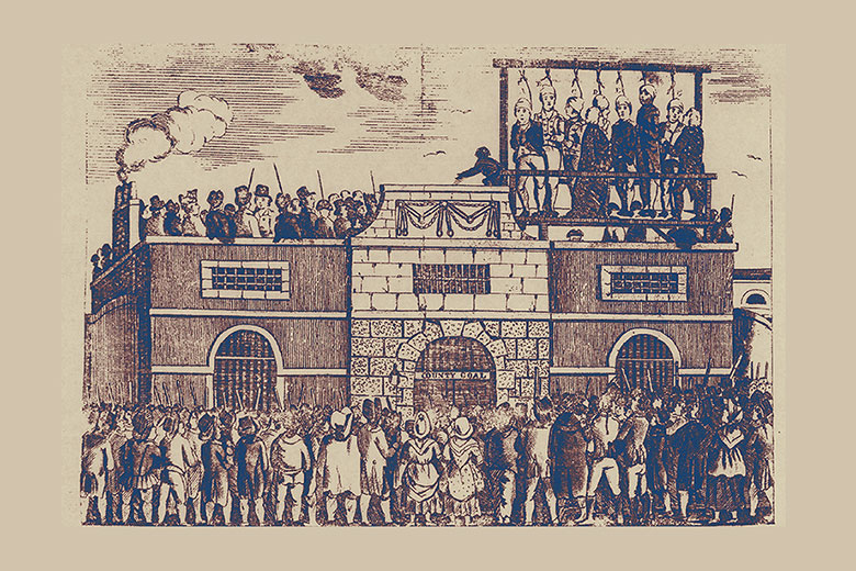 Mass hanging Horsemonger Lane jail of Edward Despard and others