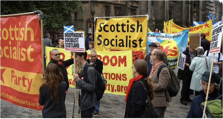 Scottish Socialist Party were in favour of Independence