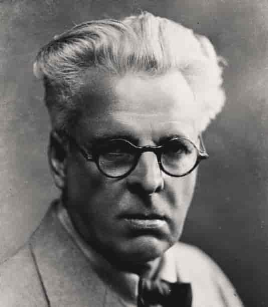 W B Yeats portrait