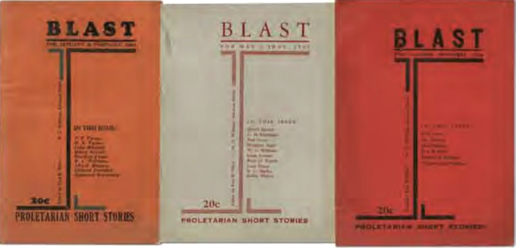 Blaze Magazine Covers 1933: Blaze Magazine published William Carlos William's poems