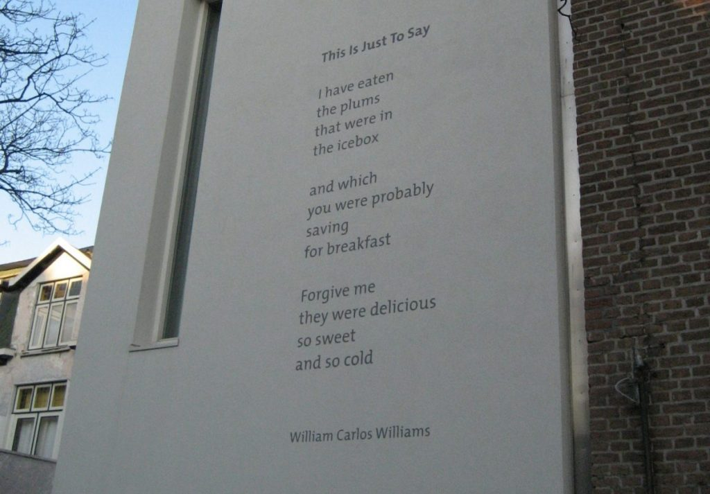William Carlos William's poems: This is Just to Say