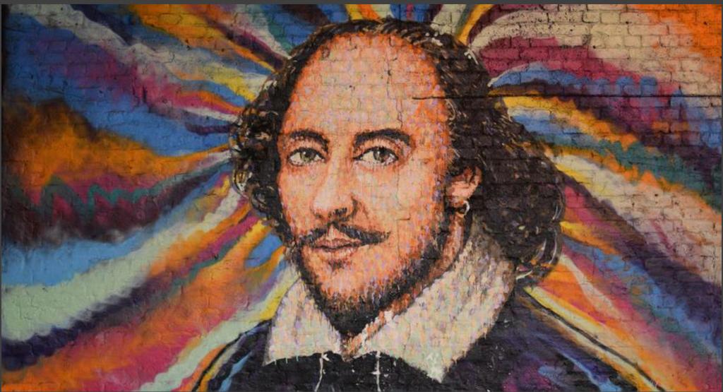 William Shakespeare mural.