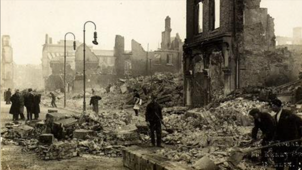 The burning of Cork by the Black and Tans
