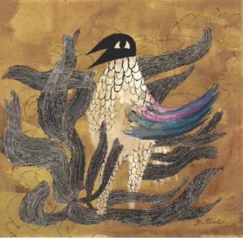 Ben Shahn The Phoenix, c. 1952, gouache and ink on board